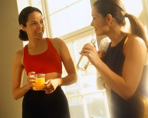 Women Holding Drink after Exercise